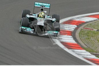 World © Octane Photographic Ltd. F1 German GP - Nurburgring. Friday 5th July 2013 - Practice One. Mercedes AMG Petronas F1 W04 - Nico Rosberg. Digital Ref : 0739lw1d3784