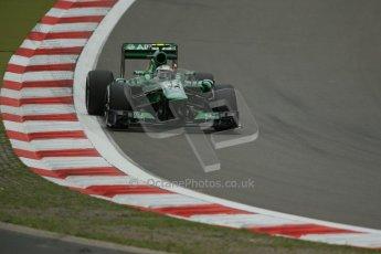 World © Octane Photographic Ltd. F1 German GP - Nurburgring. Friday 5th July 2013 - Practice two. Caterham F1 Team CT03 - Giedo van der Garde. Digital Ref : 0741lw1d4326
