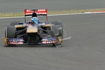 World © Octane Photographic Ltd. F1 German GP - Nurburgring. Friday 5th July 2013 - Practice Two. Scuderia Toro Rosso STR8 - Jean-Eric Vergne. Digital Ref : 0741lw1d4506