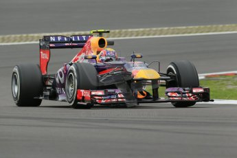 World © Octane Photographic Ltd. F1 German GP - Nurburgring. Friday 5th July 2013 - Practice two. Infiniti Red Bull Racing RB9 - Mark Webber. Digital Ref : 0741lw1d4552