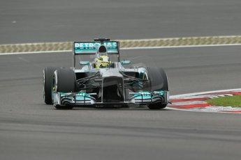 World © Octane Photographic Ltd. F1 German GP - Nurburgring. Friday 5th July 2013 - Practice two. Mercedes AMG Petronas F1 W04 - Nico Rosberg. Digital Ref : 0741lw1d4560