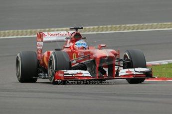 World © Octane Photographic Ltd. F1 German GP - Nurburgring. Friday 5th July 2013 - Practice two. Scuderia Ferrari F138 - Fernando Alonso. Digital Ref : 0741lw1d4577