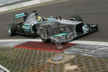 World © Octane Photographic Ltd. F1 German GP - Nurburgring. Friday 5th July 2013 - Practice two. Mercedes AMG Petronas F1 W04 - Nico Rosberg. Digital Ref : 0741lw1d4616
