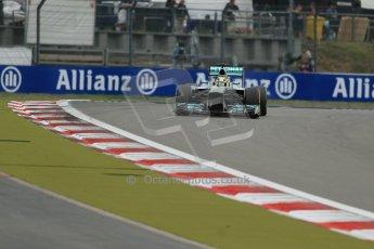 World © Octane Photographic Ltd. F1 German GP - Nurburgring. Friday 5th July 2013 - Practice two. Mercedes AMG Petronas F1 W04 - Nico Rosberg. Digital Ref : 0741lw1d4862