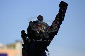 World © Octane Photographic Ltd. F1 German GP - Nurburgring. Sunday 7th July 2013 - Parc Ferme. Infiniti Red Bull Racing - Race Winner Sebastian Vettel. Digital Ref : 0750lw1d5347