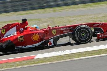 World © Octane Photographic Ltd. F1 German GP - Nurburgring. Sunday 7th July 2013 - Race. Scuderia Ferrari F138 - Fernando Alonso. Digital Ref : 0749lw1d9929