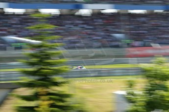 World © Octane Photographic Ltd. F1 German GP - Nurburgring. Sunday 7th July 2013 - Race. Sauber C32 - Esteban Gutierrez at speed through the trees. Digital Ref : 0749lw1dx0271