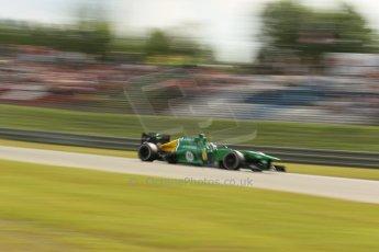 World © Octane Photographic Ltd. F1 German GP - Nurburgring. Saturday 6th July 2013 - Practice three. Caterham F1 Team CT03 - Charles Pic. Digital Ref : 0744lw1d4016