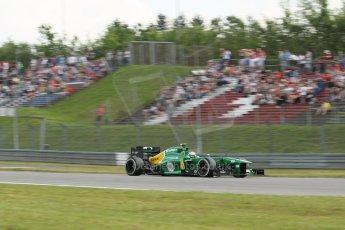 World © Octane Photographic Ltd. F1 German GP - Nurburgring. Saturday 6th July 2013 - Practice three. Caterham F1 Team CT03 - Giedo van der Garde. Digital Ref : 0744lw1d4038