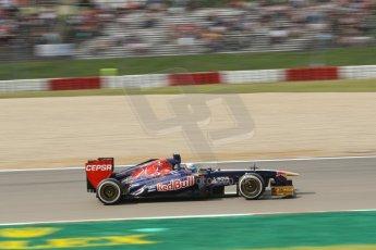 World © Octane Photographic Ltd. F1 German GP - Nurburgring. Saturday 6th July 2013 - Practice three. Scuderia Toro Rosso STR8 - Jean-Eric Vergne. Digital Ref : 0744lw1d4219