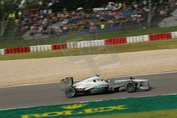 World © Octane Photographic Ltd. F1 German GP - Nurburgring. Saturday 6th July 2013 - Practice three. Mercedes AMG Petronas F1 W04 – Lewis Hamilton. Digital Ref : 0744lw1d4251