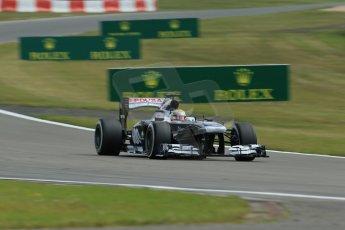 World © Octane Photographic Ltd. F1 German GP - Nurburgring. Saturday 6th July 2013 - Practice three. Williams FW35 - Pastor Maldonado. Digital Ref : 0744lw1d6187