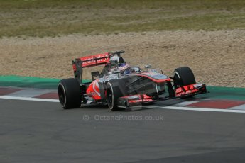 World © Octane Photographic Ltd. F1 German GP - Nurburgring. Saturday 6th July 2013 - Practice three. Vodafone McLaren Mercedes MP4/28 - Jenson Button. Digital Ref : 0744lw1d6286