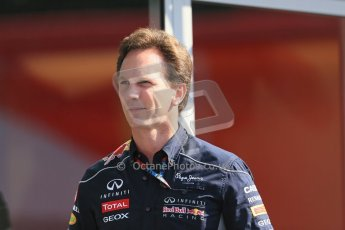 World © Octane Photographic Ltd. F1 German GP - Nurburgring, Sunday 7th July 2013 - Paddock. Infiniti Red Bull Racing - Christian Horner. Digital Ref : 0748LW1D7915