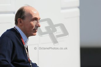 World © Octane Photographic Ltd. F1 German GP - Nurburgring, Sunday 7th July 2013 - Paddock. Williams - Sir Frank Williams. Digital Ref : 0748lw1d8090