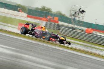 World © Octane Photographic Ltd. F1 British GP - Silverstone, Friday 28th June 2013 - Practice 1. Infiniti Red Bull Racing RB9 - Sebastian Vettel. Digital Ref : 0724ce1d6188