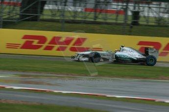 World © Octane Photographic Ltd. F1 British GP - Silverstone, Friday 28th June 2013 - Practice 1. Mercedes AMG Petronas F1 W04 – Lewis Hamilton. Digital Ref : 0724lw1d0406