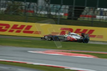 World © Octane Photographic Ltd. F1 British GP - Silverstone, Friday 28th June 2013 - Practice 1. Vodafone McLaren Mercedes MP4/28 - Sergio Perez . Digital Ref : 0724lw1d0417