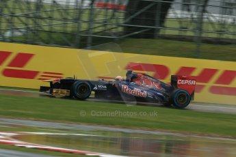 World © Octane Photographic Ltd. F1 British GP - Silverstone, Friday 28th June 2013 - Practice 1. Scuderia Toro Rosso STR8 - Jean-Eric Vergne. Digital Ref : 0724lw1d0464