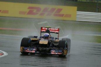 World © Octane Photographic Ltd. F1 British GP - Silverstone, Friday 28th June 2013 - Practice 1. Scuderia Toro Rosso STR 8 - Daniel Ricciardo. Digital Ref : 0724lw1d0585