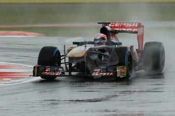 World © Octane Photographic Ltd. F1 British GP - Silverstone, Friday 28th June 2013 - Practice 1. Scuderia Toro Rosso STR8 - Jean-Eric Vergne. Digital Ref : 0724lw1d0986