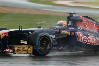 World © Octane Photographic Ltd. F1 British GP - Silverstone, Friday 28th June 2013 - Practice 1. Scuderia Toro Rosso STR8 - Jean-Eric Vergne. Digital Ref : 0724lw1d0995