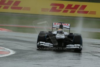 World © Octane Photographic Ltd. F1 British GP - Silverstone, Friday 28th June 2013 - Practice 1. Williams FW35 - Pastor Maldonado. Digital Ref : 0724lw1d1002