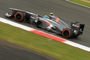World © Octane Photographic Ltd. F1 British GP - Silverstone, Friday 28th June 2013 - Practice 2. Sauber C32 - Esteban Gutierrez. Digital Ref : 0726ce1d6925
