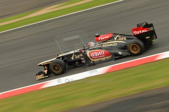 World © Octane Photographic Ltd. F1 British GP - Silverstone, Friday 28th June 2013 - Practice 2. Lotus F1 Team E21 - Kimi Raikkonen. Digital Ref : 0726ce1d7009
