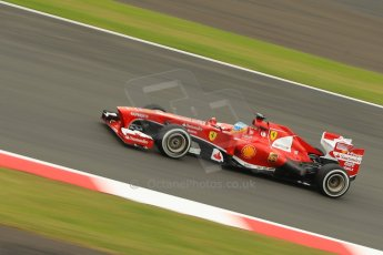 World © Octane Photographic Ltd. F1 British GP - Silverstone, Friday 28th June 2013 - Practice 2. Scuderia Ferrari F138 - Fernando Alonso. Digital Ref : 0726ce1d7047