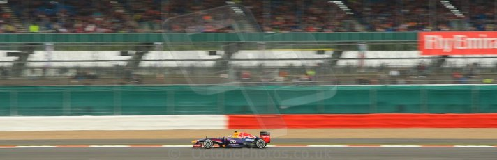 World © Octane Photographic Ltd. F1 British GP - Silverstone, Friday 28th June 2013 - Practice 2. Infiniti Red Bull Racing RB9 - Sebastian Vettel. Digital Ref : 0726ce1d7113