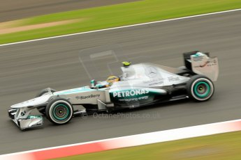 World © Octane Photographic Ltd. F1 British GP - Silverstone, Friday 28th June 2013 - Practice 2. Mercedes AMG Petronas F1 W04 – Lewis Hamilton. Digital Ref : 0726ce1d7139