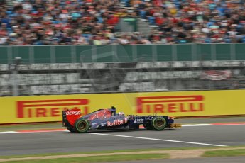 World © Octane Photographic Ltd. F1 British GP - Silverstone, Friday 28th June 2013 - Practice 2. Scuderia Toro Rosso STR 8 - Daniel Ricciardo. Digital Ref : 0726lw1d9903