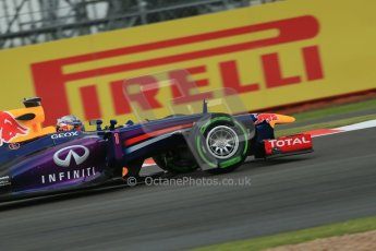 World © Octane Photographic Ltd. F1 British GP - Silverstone, Friday 28th June 2013 - Practice 2. Infiniti Red Bull Racing RB9 - Sebastian Vettel. Digital Ref : 0726lw7dx1123