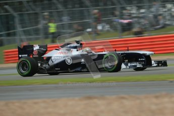 World © Octane Photographic Ltd. F1 British GP - Silverstone, Friday 28th June 2013 - Practice 2. Williams FW35 - Pastor Maldonado. Digital Ref : 0726lw7dx1196