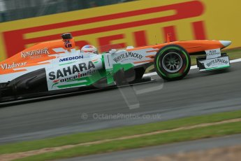 World © Octane Photographic Ltd. F1 British GP - Silverstone, Friday 28th June 2013 - Practice 2. Sahara Force India VJM06 - Paul di Resta. Digital Ref : 0726lw7dx1215
