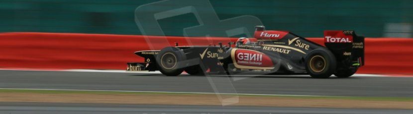 World © Octane Photographic Ltd. F1 British GP - Silverstone, Friday 28th June 2013 - Practice 2. Lotus F1 Team E21 - Kimi Raikkonen. Digital Ref : 0726lw7dx1308