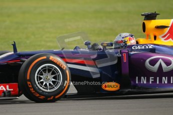World © Octane Photographic Ltd. F1 British GP - Silverstone, Saturday 29th June 2013 - Practice 3. Infiniti Red Bull Racing RB9 - Sebastian Vettel. Digital Ref : 0729lw1d0576