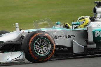 World © Octane Photographic Ltd. F1 British GP - Silverstone, Saturday 29th June 2013 - Practice 3. Mercedes AMG Petronas F1 W04 - Nico Rosberg. Digital Ref : 0729lw1d0673