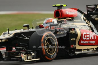 World © Octane Photographic Ltd. F1 British GP - Silverstone, Saturday 29th June 2013 - Practice 3. Lotus F1 Team E21 - Romain Grosjean. Digital Ref : 0729lw1d0681