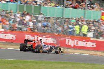 World © Octane Photographic Ltd. F1 British GP - Silverstone, Saturday 29th June 2013 - Practice 3. Scuderia Toro Rosso STR 8 - Daniel Ricciardo. Digital Ref : 0729lw1d0781