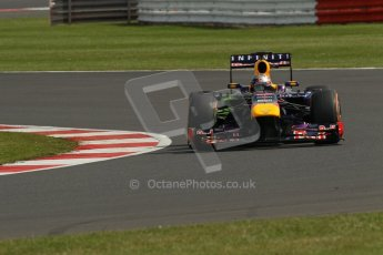 World © Octane Photographic Ltd. F1 British GP - Silverstone, Saturday 29th June 2013 - Practice 3. Infiniti Red Bull Racing RB9 - Sebastian Vettel. Digital Ref : 0729lw1d0872