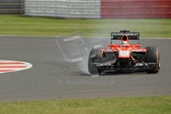 World © Octane Photographic Ltd. F1 British GP - Silverstone, Saturday 29th June 2013 - Practice 3. Marussia F1 Team MR02 - Jules Bianchi. Digital Ref : 0729lw1d0986