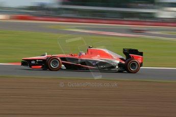 World © Octane Photographic Ltd. F1 British GP - Silverstone, Saturday 29th June 2013 - Practice 3. Marussia F1 Team MR02 - Max Chilton. Digital Ref : 0729lw1d1657