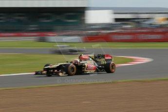 World © Octane Photographic Ltd. F1 British GP - Silverstone, Saturday 29th June 2013 - Practice 3. Lotus F1 Team E21 - Romain Grosjean. Digital Ref : 0729lw1d1671