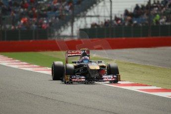World © Octane Photographic Ltd. F1 British GP - Silverstone, Saturday 29th June 2013 - Qualifying. Scuderia Toro Rosso STR 8 - Daniel Ricciardo. Digital Ref : 0730lw1d1250