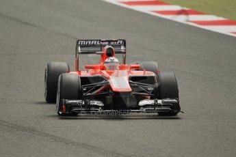 World © Octane Photographic Ltd. F1 British GP - Silverstone, Saturday 29th June 2013 - Qualifying. Marussia F1 Team MR02 - Jules Bianchi. Digital Ref : 0730lw1d1324