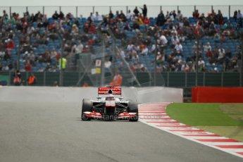 World © Octane Photographic Ltd. F1 British GP - Silverstone, Saturday 29th June 2013 - Qualifying. Vodafone McLaren Mercedes MP4/28 - Jenson Button. Digital Ref : 0730lw1d1416