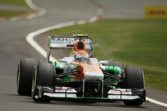 World © Octane Photographic Ltd. F1 British GP - Silverstone, Saturday 29th June 2013 - Qualifying. Sahara Force India VJM06 - Adrian Sutil. Digital Ref : 0730lw1d1540