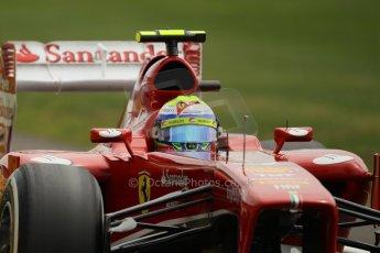 World © Octane Photographic Ltd. F1 British GP - Silverstone, Saturday 29th June 2013 - Qualifying. Scuderia Ferrari F138 - Felipe Massa. Digital Ref : 0730lw1d1574